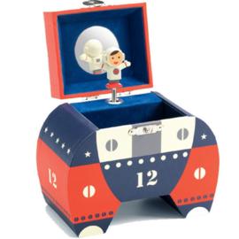 Djeco muziek/speel-doosje astronaut DJ06606