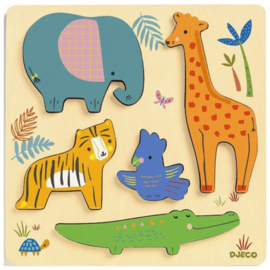 Djeco  relief puzzel - woodyjungle