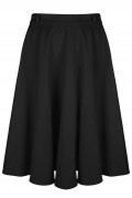 Very Cherry - Circle Skirt Black