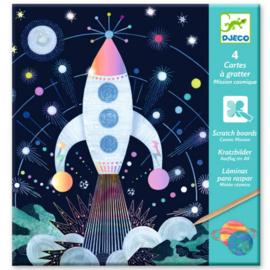Djeco -  krasfolie - ruimtevaartmissie DJ09727