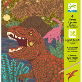 Djeco -  krasfolie -  dinosaurs DJ09726