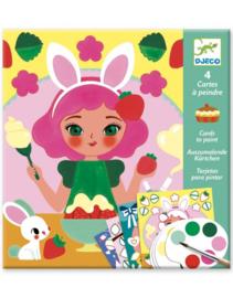 Djeco - kaarten om te schilderen - vieruurtje