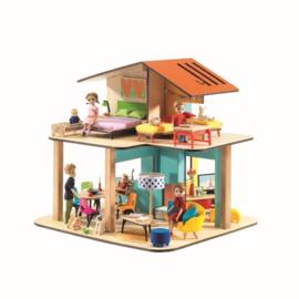 Djeco houten poppenhuis -modern DJ07802