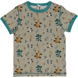 Maxomorra top short sleeve - Lizard
