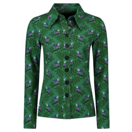 Tante Betsy Button Shirt Pimpel Green