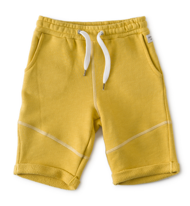 Little label  sweat shorts warm yellow