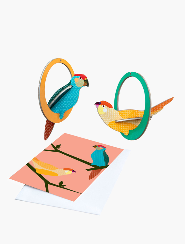 pop out cards-  Parakeets