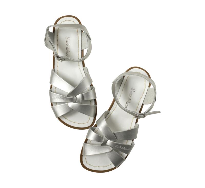 Saltwater sandals zilver
