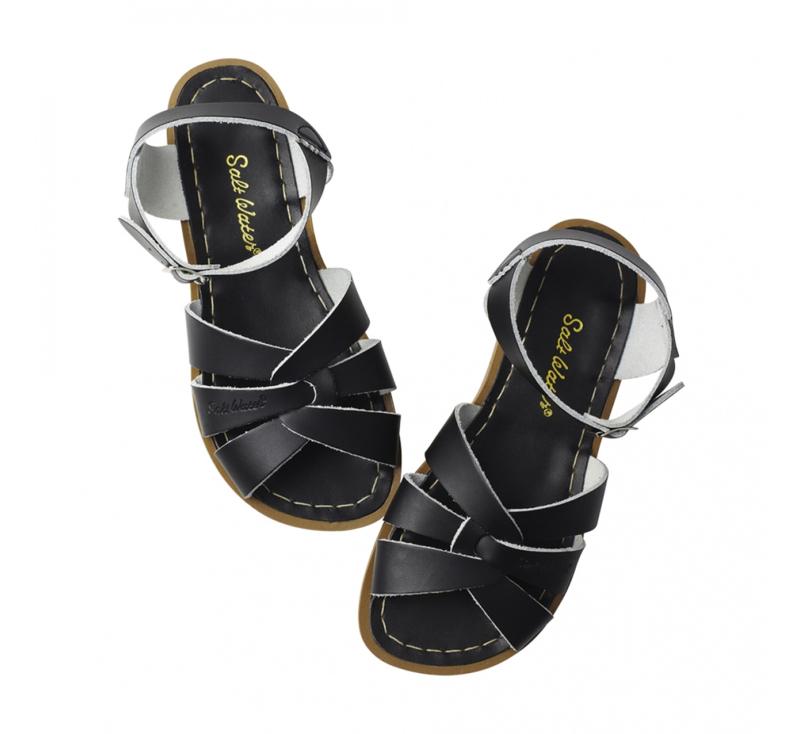 Saltwater sandals zwart
