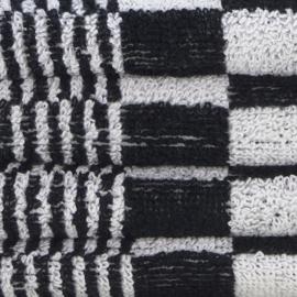 Handdoek, Zwart en Witte Blok, 52x55cm, Katoen, Treb Towels