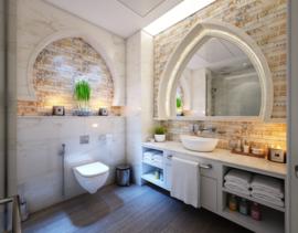 Toalla de invitados, Blanca, Sin bordes, 30x30cm, 450 gr / m2, Treb Bed & Bath
