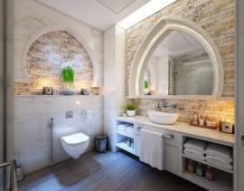 Mata do kąpieli, biała, płaska krawędź, 50x76 cm, 600 gr / m2, Treb Bed & Bath