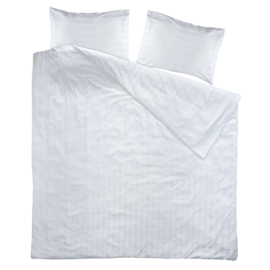 Duvet cover, White, 240x260cm, 2 Persons, Woven Satin Stripes, PC 50-50, Treb PH