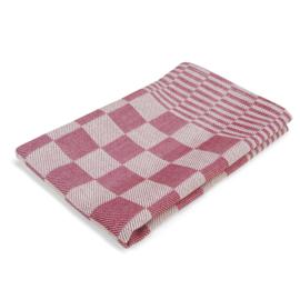 Stoff servietter, rød og hvit rutete, 40x40cm, 100% bomull, Treb WS