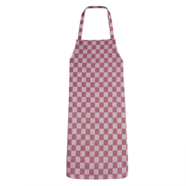Apron, Red and White Checkered, 70x95cm, 100% Cotton, Treb WS