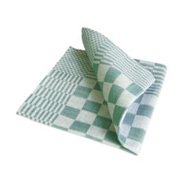 Guardanapos de mesa, xadrez verde e branco, 40x40cm, 100% algodão, Treb WS