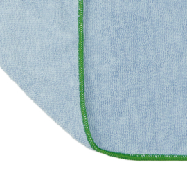 Microfibre Work Cloth, Blue and Green Edge, 40x40cm, Treb Towels