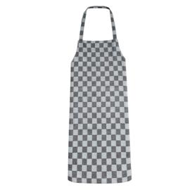 Forklæde, sort og hvid rutet, 70x95 cm, 100% bomuld, Treb WS