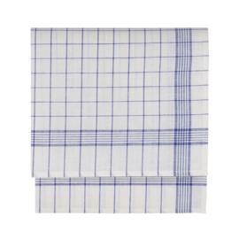 Glasdoek, Blauwe lijnen, Half Linnen/Katoen, 70x70cm, Treb Towels