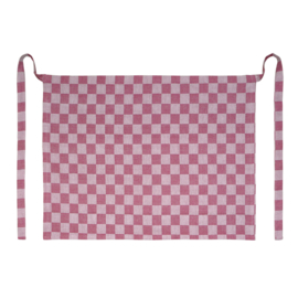 Apron, Red and White Checkered, 60x70cm, 100% Cotton, Treb WS
