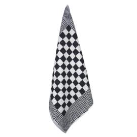 Handtuch, Schwarz und Weiß Kariert, 52x55cm, Treb Towels