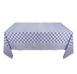 Nappe, Carreaux Bleu et Blanc, 140x140cm, 100% Coton, Treb WS
