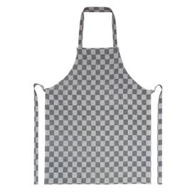 Tablier, damier noir et blanc, 70x95cm, 100% coton, Treb WS