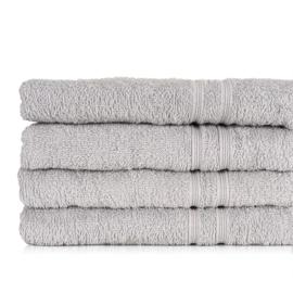 Serviette de bain, Gris, 50x100cm, 100% Coton, Treb ADH
