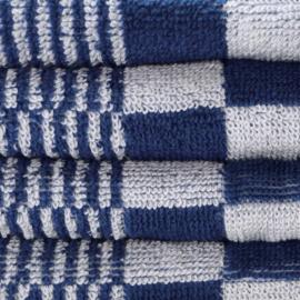 Ręczniki, niebieski i biały, 52x55cm, bawełna, Treb Towels