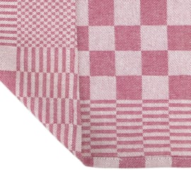 Toalhas de chá, xadrez vermelho e branco, 65x65cm, 100% algodão, Treb WS