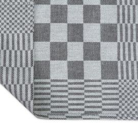 Stoff servietter, svart og hvitt rutete, 40x40cm, 100% bomull, Treb WS