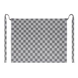 Grembiule, bianco e nero a scacchi, 60x70 cm, 100% cotone, Treb WS