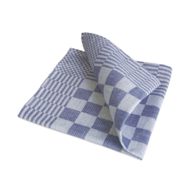 Guardanapos de mesa, xadrez azul e branco, 40x40cm, 100% algodão, Treb WS
