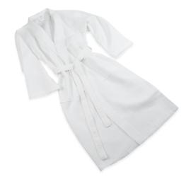 Badjas, Wafel, Wit, Kimono Model