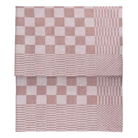 Theedoeken, Beige en Wit Geblokt, 65x65cm, 100% Katoen, Treb WS