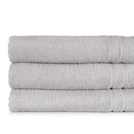 Serviette de bain, Gris, 70x130cm, 100% Coton, Treb ADH