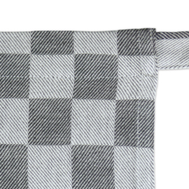 Kurze Schürze, Schwarz und Weiß Kariert, 60 x 70 cm, 100% Baumwolle, Treb WS
