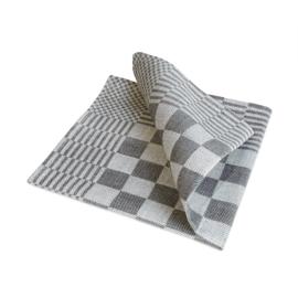 Guardanapos de mesa, xadrez preto e branco, 40x40cm, 100% algodão, Treb WS