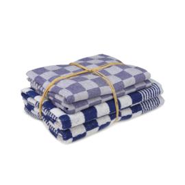 2x Ręcznik 52x55cm + 2x ręcznik do herbaty, 70x70cm, niebieski i biały