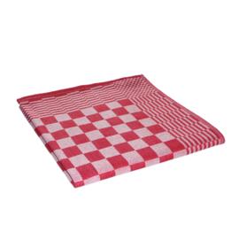 Toalhas de cozinha, toalhas de chá, xadrez vermelho e branco, 65x65cm, 100% algodão, Treb AD