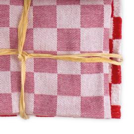 Keukenset, Rood, 2x Handdoek 50x50cm + 2x Theedoek 65x65cm, Treb Towels