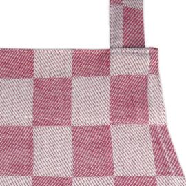 Förkläde, röd och vit rutig, 70x95 cm, 100% bomull, Treb WS