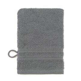 Débarbouillettes, gris foncé, 15x22cm, 100% coton, Treb ADH