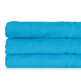 Serviette de bain, turquoise, 70x130cm, 100% coton, Treb ADH