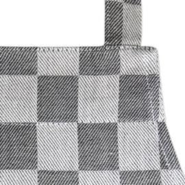 Schürze, Schwarz und Weiß Kariert, 70x95cm, 100% Baumwolle, Treb WS