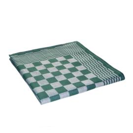 Ręczniki kuchenne, ściereczki kuchenne, zielono-biała kratka, 65x65 cm, 100% bawełna, Treb AD