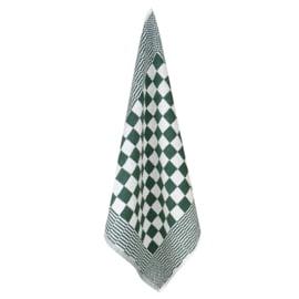 Handdoek, Groen En Witte Blok, 52x55cm, Katoen, Treb Towels