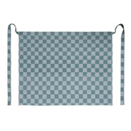 Grembiule, verde e bianco a scacchi, 60x70 cm, 100% cotone, Treb WS