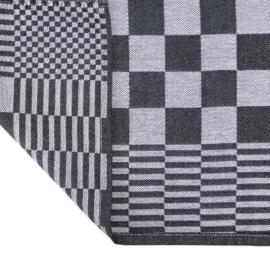 Blokdoeken, Theedoeken, Zwart en Wit Geblokt, 65x65cm, 100% katoen, Treb AD