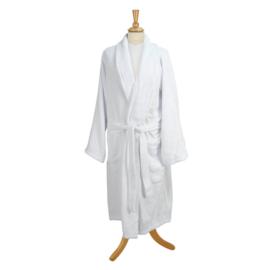 Roupão de banho, algodão GOTS, manga raglan, branco